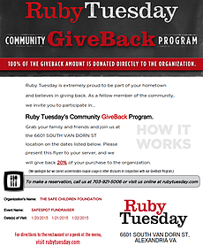ruby tuesday giveback